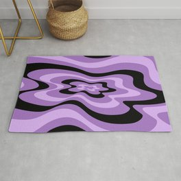 Abstract pattern - purple and black. Rug