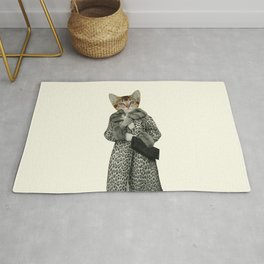 Kitten Dressed as Cat Rug