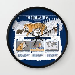 The Wild Ones: Siberian Tiger (info) Wall Clock
