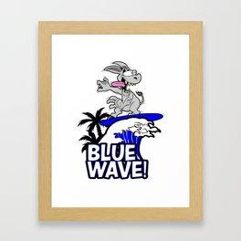 Blue Wave Design for Liberal Democrat 2018 Voters Framed Art Print
