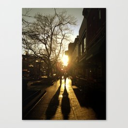 Sunset on Pearl St. Boulder CO. Canvas Print