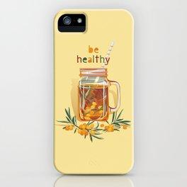 Be healthy. Sea buckthorn warm drink iPhone Case