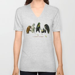 A Sleuth of Bears Unisex V-Neck