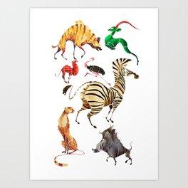 African animals 2 Art Print