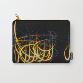 Abstract Orange and Blue Light Effect Carry-All Pouch