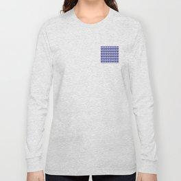 White fleur delis on bluebackground Long Sleeve T-shirt