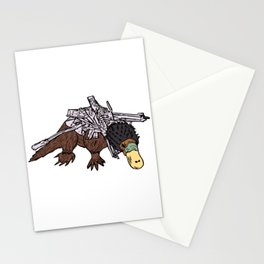 Battle Platypus Stationery Cards