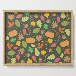 Thanksgiving pattern Serving Tray