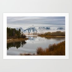 Early Spring Morning at Oxbow Bend, Wyoming Art Print