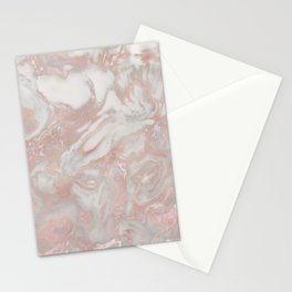 French polished rose gold marble Stationery Cards