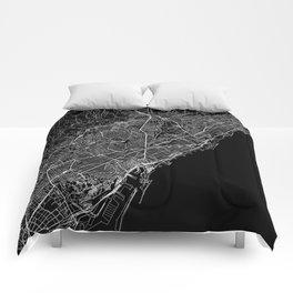 Barcelona Black Map Comforters