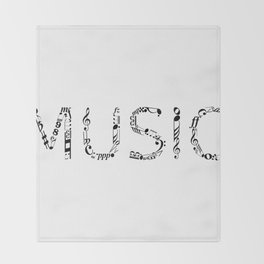 Music typo Throw Blanket