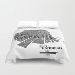 San Francisco Map Duvet Cover