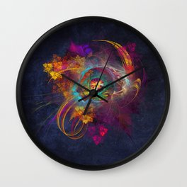 Other Side Fractal Art Wall Clock