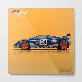 McLaren F1 GTR #02R - 1995 Le Mans 4th place - Side View Metal Print