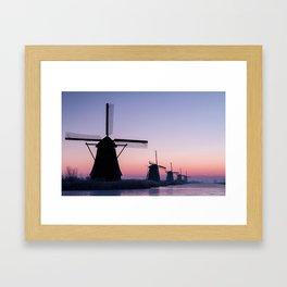 Windmills at Sunrise II Framed Art Print