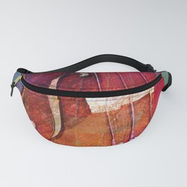 Violin Abstract One Fanny Pack