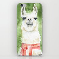 llama iPhone & iPod Skins featuring Llama by Susan Windsor