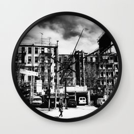 Storm Clouds - Chinatown - New York City Wall Clock