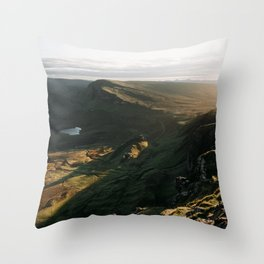 The Quiraing - scotland, isle of skye, landscape, nature, mountains Throw Pillow