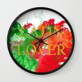 Latin Lover Wall Clock