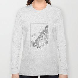 Dubai White Map Long Sleeve T-shirt