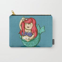 funny fat mermaid Carry-All Pouch