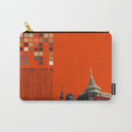 Asian Sculpture and Buddhist Temple Carry-All Pouch