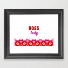 BOSS lady Framed Art Print