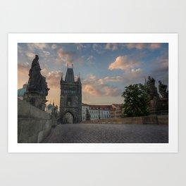 The gateway to Charles Bridge Art Print