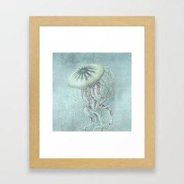 Jellyfish Underwater Aqua Turquoise Art Framed Art Print