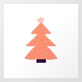Orange Christmas tree Art Print