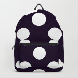 Geometric Candy Dot Circles - White on Black Backpack