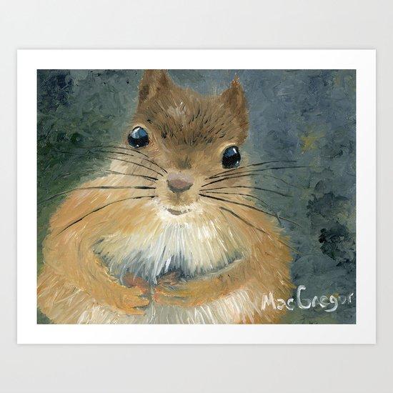 Last Nut for my Squirrel Art Print