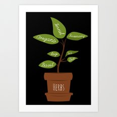 Herb Garden Art Print