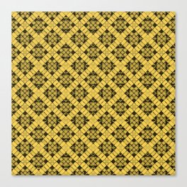 Primrose Yellow Patchwork Canvas Print