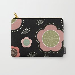 Japanese-inspired Plum Blossoms Carry-All Pouch