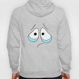 Hand drawn funny face Hoody