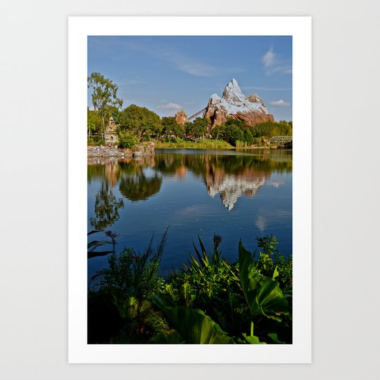 Flame Tree View Art Print