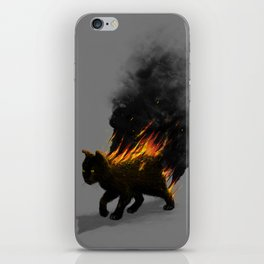 This Cat Is On Fire! iPhone Skin