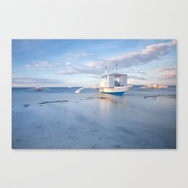 Traditional Filipino boats on the beach, Philippines Canvas Print