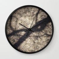 shadow Wall Clocks featuring Shadow by Maria Heyens