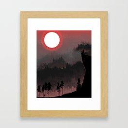 Hunters Moon/Dark Forest Framed Art Print