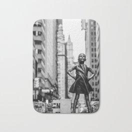 Fearless Girl New York City Bath Mat