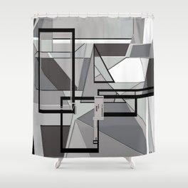 Gray Geometry Shower Curtain