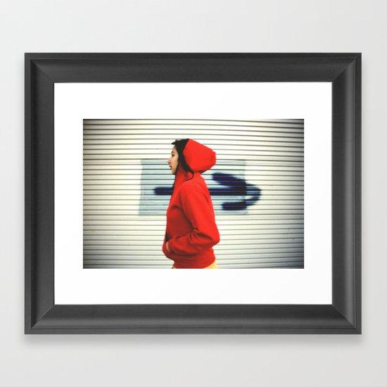 Against the Flow Framed Art Print