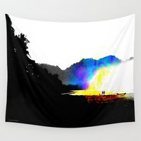 salt water Wall Tapestries featuring Salt Surf by Andooga Design