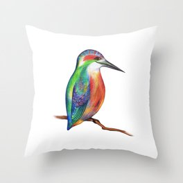 Dicky Bird Throw Pillow