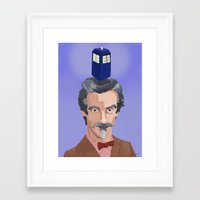 dr who Framed Art Prints featuring Dr Who  by Kervin
