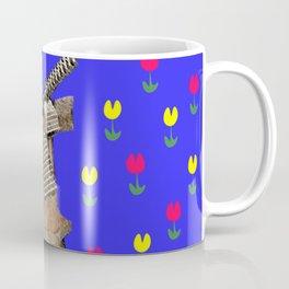 Windmill and Tulips - Blue backdrop Coffee Mug